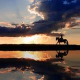 Equitação de cavalo Fotos de Stock