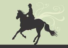 Equitação de cavalo Imagens de Stock