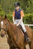 Equitação de cavalo da menina Fotos de Stock Royalty Free