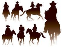 Equitação de Horseback ilustração stock