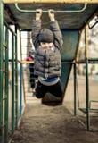 Equitação do bebê no balanço Fotos de Stock Royalty Free