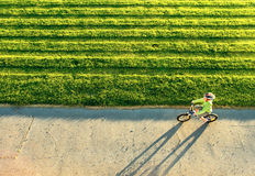 Equitação do rapaz pequeno Imagem de Stock