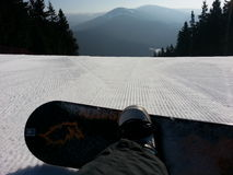 Equitação do snowboard de domingo Imagens de Stock Royalty Free