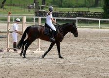 Equitação da menina Foto de Stock Royalty Free