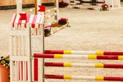 equitation Препятствие для скача лошадей стоковая фотография