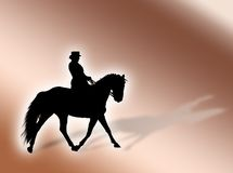 Equitation. Black horse silhouette as symbol of equitation stock illustration