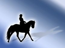 Equitation. Black horse silhouette as symbol of equitation royalty free illustration