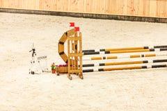 equitation Hindernis für springende Pferde lizenzfreie stockbilder
