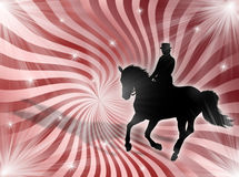 Equitation in the lights stock illustration