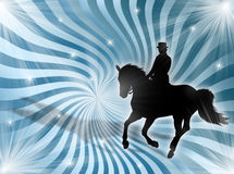 Equitation in the lights Royalty Free Stock Images