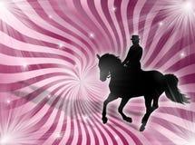 Equitation in the lights vector illustration
