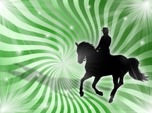 Equitation in the lights vector illustration