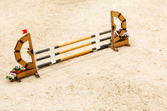 Equitation. Obstacle for jumping horses. Royalty Free Stock Images