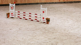 Equitation. Obstacle for jumping horses. Royalty Free Stock Photography