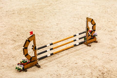 Equitation. Obstacle for jumping horses. Stock Images