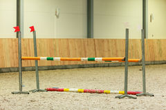 Equitation. Obstacle for jumping horses. Stock Photo