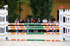Equitation obstacles barriers Royalty Free Stock Photo