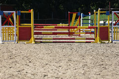 Equitation obstacles bars for horse jumping event Royalty Free Stock Photography