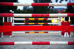 Equitation obstacles bars for horse jumping event Stock Image