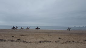 Equitazione sulla spiaggia Fotografie Stock Libere da Diritti