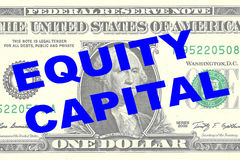 Equity Capital - financial concept Royalty Free Stock Photo
