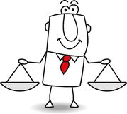 Equity and justice stock illustration