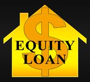 Equity Loan Shows Capital And Lending 3d Illustration. Equity Loan Dollar Icon Shows Capital And Lending 3d Illustration Stock Photo