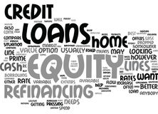 Equity Loans Analyzed And Compared Text Background  Word Cloud Concept Royalty Free Stock Photos