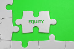 Equity Text - Business Concept Royalty Free Stock Photography