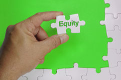 Equity Text - Business Concept Royalty Free Stock Images