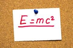 Equivalenza di Massachussets-energia E=mc2 fotografia stock