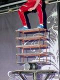 Equivibrrist na scenie Zdjęcia Stock