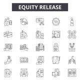 _Eququity Freigabe Linie Ikone, Zeichen, Vektor Satz, Entwurf Illustration Konzept vektor abbildung
