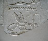 Ancient Egyptian Stone Carvings Stock Images