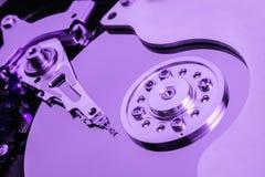 Eröffnen Sie Festplatten-Purpurabschluß Lizenzfreies Stockbild