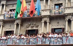 Eröffnung dem Festival San-Fermin in Pamplona Stockbilder