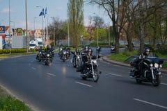 Eröffnung der motorcykle Jahreszeit. Lizenzfreie Stockfotos
