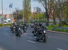 Eröffnung der motorcykle Jahreszeit. Stockfoto