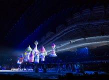 Eröffnungsfeier Olympischer Spiele Sochis 2014 Stockbilder