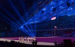 Eröffnungsfeier Olympischer Spiele Sochis 2014 stockfotografie