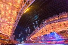 Eröffnungsfeier Olympischer Spiele Sochis 2014 lizenzfreie stockfotografie