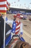 Eröffnungsfeier, Santa Barbara Old Spanish Days, Fiesta-Rodeo, Pferdeshow auf Lager, Earl Waren Showgrounds, CA Lizenzfreies Stockbild