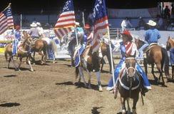 Eröffnungsfeier, Santa Barbara Old Spanish Days, Fiesta-Rodeo, Pferdeshow auf Lager, Earl Waren Showgrounds, CA Lizenzfreie Stockbilder
