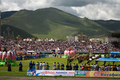 Eröffnungsfeiern Nadaam Staatsangehörig-Spiele Lizenzfreies Stockbild