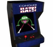 Erövra videospelet för fred för förälskelse för hat för hattaktnederlaget Arkivbilder