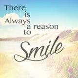Er is altijd reden te glimlachen Stock Fotografie