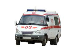 Er ambulance car. Moscow, Russia Royalty Free Stock Image
