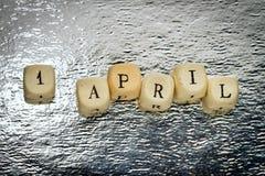 1er avril Image stock