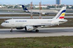 ER-AXL Air Moldova, Airbus A319-112 Imagens de Stock