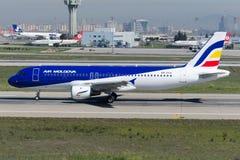ER-AXV Air Moldova-Luchtbus A320-211 Stock Afbeeldingen